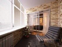 ремонт, отделка балкона в Перми